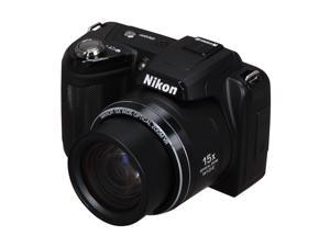 Nikon COOLPIX L110 Black 12.1 MP 28mm Wide Angle Digital Camera