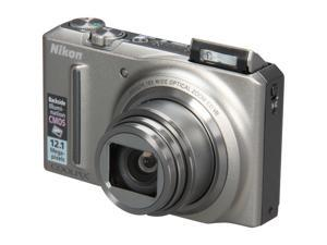 Nikon COOLPIX S9100 Silver 12.1 MP 25mm Wide Angle Digital Camera