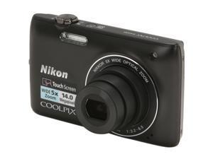 Nikon COOLPIX S4100 Black 14.0 MP 26mm Wide Angle Digital Camera