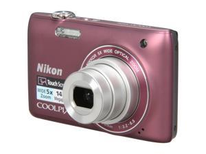 Nikon COOLPIX S4100 Plum 14.0 MP 26mm Wide Angle Digital Camera