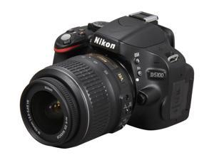 Nikon D5100 Black DSLR Camera w/AF-S 18-55mm VR Lens