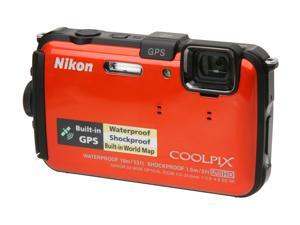 "Nikon COOLPIX AW100 26293 Orange 16 MP 3.0"" 460K Action Camera"