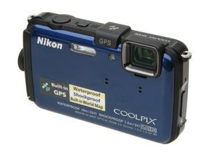 "Nikon COOLPIX AW100 26292 Blue 16 MP 3.0"" 460K Action Camera"