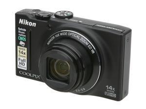 Nikon COOLPIX S8200 16.1MP Digital camera with 14x Optical Zoom. Black