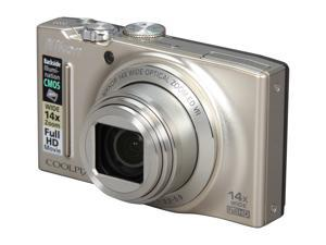 Nikon Coolpix S8200 26287 Silver 16.1 MP 25mm Wide Angle Digital Camera
