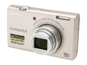 Nikon COOLPIX S6200 Silver 16 MP Digital Camera
