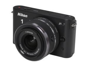 Nikon 1 J1 Black 10.1MP HD Digital Camera System with 10-30mm VR 1 NIKKOR Lens