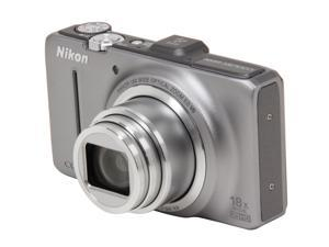 Nikon Coolpix S9300 26314 Silver 16MP 25mm Wide Angle Digital Camera HDTV Output