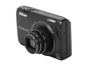 Nikon Coolpix S6300 26301 Black 16MP 25mm Wide Angle Digital Camera HDTV Output