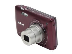 Nikon Coolpix S4300 26332 Plum 16MP 26mm Wide Angle Digital Camera
