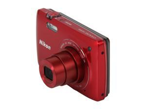 Nikon Coolpix S4300 26306 Red 16 MP 26mm Wide Angle Digital Camera