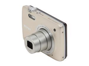 Nikon Coolpix S4300 26304 Silver 16 MP 26mm Wide Angle Digital Camera