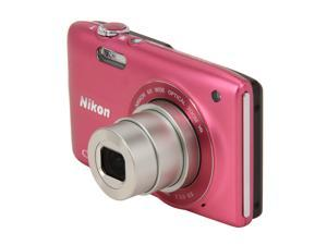 Nikon Coolpix S3300 26313 Pink 16MP 26mm Wide Angle Digital Camera