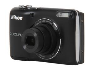 Nikon Coolpix L26 26298 Black 16.1 MP Wide Angle Digital Camera