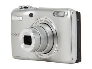 Nikon Coolpix L26 26297 Silver 16.1 MP Wide Angle Digital Camera