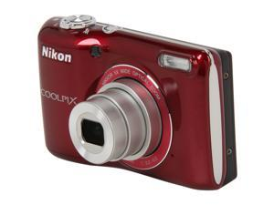 Nikon L26 Coolpix 26299 Red 16.1 MP Wide Angle Digital Camera