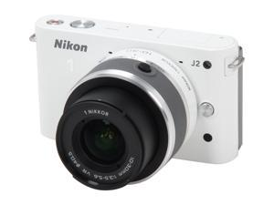 Nikon 1 J2 (27573) White Mirrorless Camera w/10-30mm VR Lens