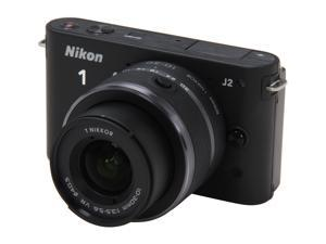 Nikon 1 J2 (27572) Black Mirrorless Camera w/10-30mm VR Lens