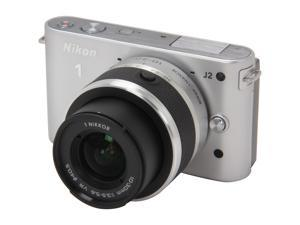 Nikon 1 J2 (27574) Silver Mirrorless Camera w/10-30mm VR Lens
