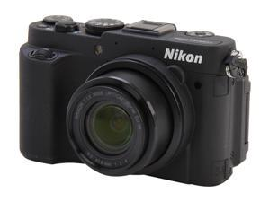 Nikon Coolpix P7700 Black 12.2 MP 28mm Wide Angle Digital Camera HDTV Output