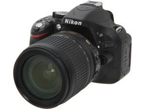 Nikon D5200 (13216) Black Digital SLR Camera with 18-105mm VR Lens Kit