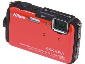 Nikon COOLPIX AW110 26412 Orange 16 MP 5X Optical Zoom Waterproof Shockproof Digital Camera
