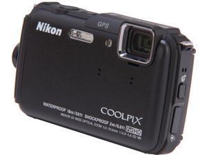 Nikon COOLPIX AW110 26410 Black 16 MP Waterproof Shockproof 28mm Wide Angle Digital Camera