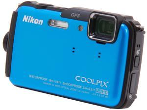 Nikon COOLPIX AW110 26411 Blue 16 MP Waterproof Shockproof Digital Camera