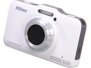 Nikon COOLPIX S31 26405 White 10.1 MP Waterproof Shockproof Digital Camera