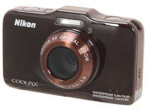 Nikon COOLPIX S31 26408 Brown 10.1 MP Waterproof Shockproof Digital Camera