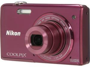 Nikon COOLPIX S5200 Plum 16 MP Wide Angle Digital Camera