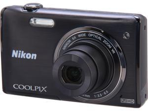 Nikon COOLPIX S5200 26374 Black 16 MP Wide Angle Digital Camera