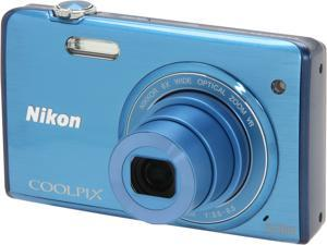 Nikon COOLPIX S5200 26376 Blue 16 MP Wide Angle Digital Camera