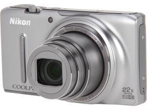 Nikon COOLPIX S9500 26417 Silver 18.1 MP Digital Camera