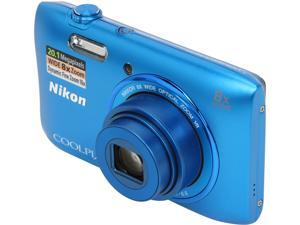 Nikon COOLPIX S3600 26454 Blue 20.1 MP 25mm Wide Angle Digital Camera