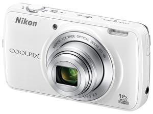 Nikon COOLPIX S810c 26428 White 16.0MP 12X Optical Zoom 25mm Wide Angle Digital Camera HDTV Output