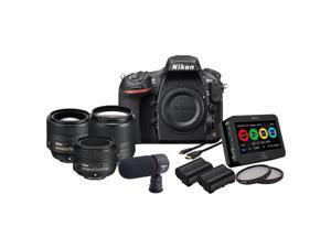 Nikon D810 13456 Filmmaker's Kit Black Digital SLR Camera with 35mm&50mm&85mm F/1.8G Lenses