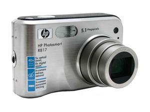 HP R817 Silver 5.1 MP Digital Camera