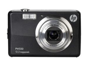 HP PW550A Black 12MP Wide-angle Li-ion battery Digital Camera