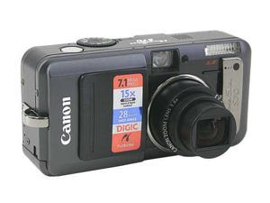 Canon PowerShot S70 Black 7.1MP 28mm Wide Angle Digital Camera