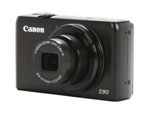 Canon PowerShot S90 Black 10.0 MP 28mm Wide Angle Digital Camera