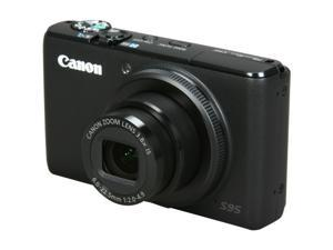 Canon S95 Black 10.0 MP 28mm Wide Angle Digital Camera