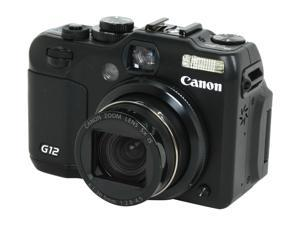 Canon PowerShot G12 4342B001 Black 10.0 MP 28mm Wide Angle Digital Camera HDTV Output