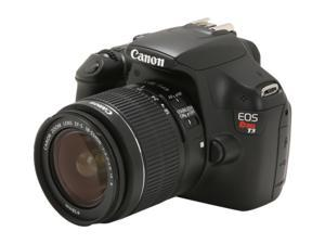 Canon EOS REBEL T3 Black Digital SLR Camera with EF-S 18-55mm Lens
