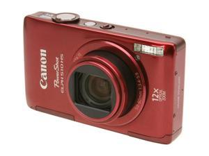 Canon PowerShot ELPH 510 HS 12.1 MP CMOS Digital Camera. Red