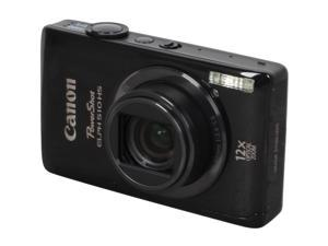 Canon PowerShot ELPH 510 HS Black 12.1 MP 28mm Wide Angle Digital Camera