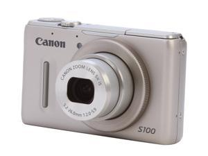 Canon PowerShot S100 5245B001 Silver 12.1 MP 24mm Wide Angle Digital Camera