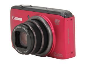 Canon PowerShot SX260 HS 6195B001 Red 12.1 MP 25mm Wide Angle Digital Camera HDTV Output