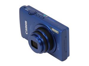 Canon ELPH-320 Blue 16 MP 24mm Wide Angle Digital Camera