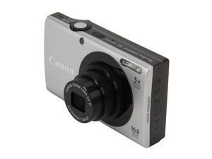 Canon PowerShot A3400 IS 6182B001 Silver 16 MP 28mm Wide Angle Digital Camera